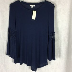 Studio by JPR blue tunic top size large